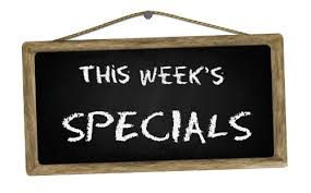 this weeks specials